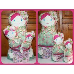 $90.00 Set of 3 Babushka Dolls by LoveToCreate on Handmade Australia