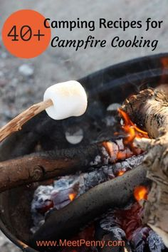 Campfire cooking? Are you looking for camping recipes? Check out this round up of breakfast, lunch, dinner, and dessert recipes perfect for family camping.