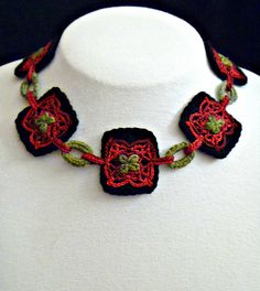 Ravelry: Monarch Necklace pattern by Shelby Allaho