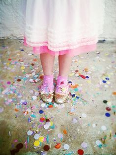 a floor of confetti!
