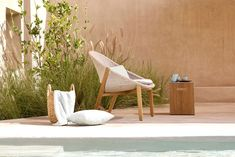 Elio, a sunshine story | Tribù Contemporary Outdoor Furniture, Low Chair, Rooftop Bar, Outdoor Settings, Timeless Elegance, Seat Covers, Outdoor Dining, Perfect Place, Teak