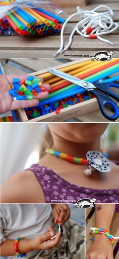 Drinking Straws, Shoelaces and Fine Motor Skills  SUPERVISE with younger children - choking hazard