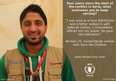 Ahmad, 25, a humanitarian worker with Save the Children #WhatDoesItTake #SyriaHunger #ZaatariCamp (12 March 2015)