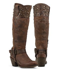 Look what I found on #zulily! Brown Regulus Leather Western Boot #zulilyfinds