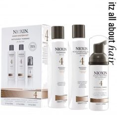 NIOXIN Hair System Kit 4 for Fine, Noticeably Thinning, Chemically Treated Hair Products) Hair Regrowth Shampoo, Hair Scalp, Hair Follicles, Hair Thickening, Keratin Hair, Nioxin System 4, Fine Natural Hair, Nioxin Hair, Shopping