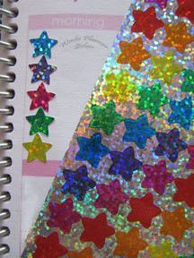 Colorful Hologram Star Stickers
