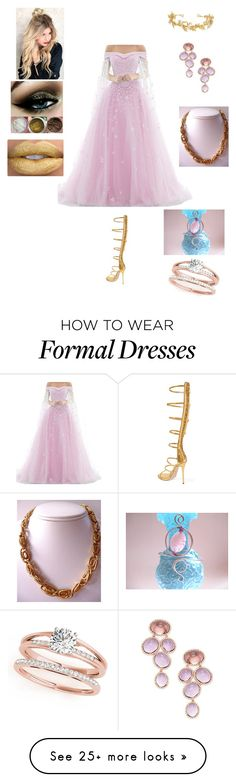"""""""Aphrodite"""" by maddox-foenix on Polyvore featuring Giuseppe Zanotti, AURA Headpieces, Sarah Coventry and Rina Limor"""