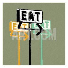 Eat Art Print by Stella Bradley at Art.com