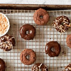 Gluten Free Triple Chocolate Baked Doughnuts are better than the old fashioned fried version!  #foodgawker