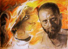 Pencil, pstell, My portrait