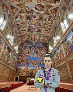 by the Sistine Chapel.
