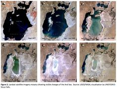 """90 Percent of the World's Fourth-Largest Lake Has Gone Dry Satellite imagery of changes of the Aral Sea. According to NASA, the salt-water lake on the border of Kazakhstan and the autonomous Republic of Karakalpakstan in Uzbekistan just passed a dubious landmark: For """"the first time in modern history, the eastern basin of the South Aral Sea has completely dried.""""The drying of the Aral Sea is the result of mismanaged resources.It's also a cautionary tale of what happens when the water runs…"""