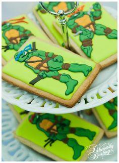 Deliciously Darling   Teenage Mutant Ninja Turtle Birthday Party   Desserts   Sugar Cookies