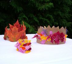 crowns for kids. love the leaves.