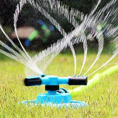 SKYLE Lawn and Garden Adjustable Water Circular Sprinkler 3 Arms Automatic 360 Degree Rotation Long Range Impulse Irrigation System *** Check this awesome product by going to the link at the image. (This is an affiliate link) Best Lawn Sprinkler, Lawn Sprinkler System, Kids Sprinkler, Water Sprinkler, Lawn And Garden, Water Garden, Garden Tools, Garden Kids, Balcony Garden