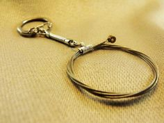 Unisex/ Men's Recycled Guitar String Key Chain Key Ring Gift for Musician or Music lover or Music Teacher Under 15 Free US Shipping - LoveItSoMuch.com