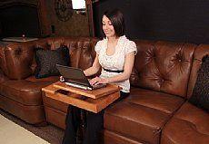 RV Furniture & Boat Furniture by Flexsteel, Lambright & More - Bradd & Hall Boat Furniture, Home Office Furniture, Desk Hacks, Small Rv, Desks For Small Spaces, Rv Organization, Space Saving, Table, Rv Upgrades