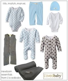 Mix and match essentials for baby from L'ovedbaby