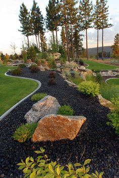 landscaping ideas and inspiration from our gardening experts to design your own backyard or garden oasis.Get landscaping ideas and inspiration from our gardening experts to design your own backyard or garden oasis. Mulch Landscaping, Landscaping With Rocks, Front Yard Landscaping, Landscaping Ideas, Backyard Ideas, Landscaping Software, Black Rock Landscaping, Inexpensive Landscaping, Landscaping Supplies