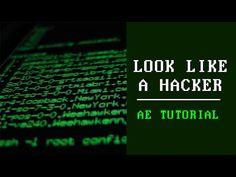 Look like a Hacker Tutorial After Effects