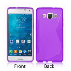 S-Line Soft Silicon Gel Case For Samsung Galaxy A5 in Purple