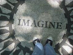 Imagine - Strawberry Fields, Central Park, NYC | Flickr - Photo Sharing!  Photo taken by me, Star Cat
