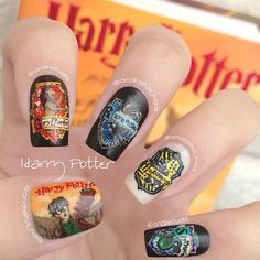 96 Inspirational Harry Potter Nail Art Ideas, 15 Harry Potter Nail Art Designs that are Seriously Magical, Lacquered Lawyer, 131 Best Harry Potter Nails Images In 131 Best Harry Potter Nails Images In Harry Potter Nail Art, Harry Potter Nails Designs, Diy Nails, Cute Nails, Pretty Nails, Hogwarts, Diy Nail Designs, Creative Nails, Nail Arts