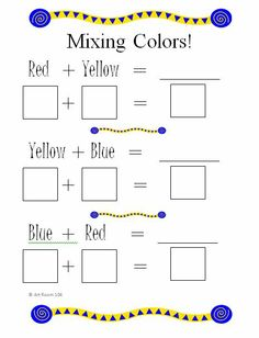 Color Wheel Worksheet | Art Room 104: Primary Colors and Rainbows!