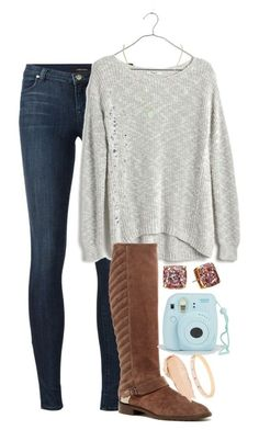 Cute outfit featuring Kate Spade, J Brand, Madewell, Stuart Weitzman, MAC Cosmetics, Kendra Scott, women's clothing, women's fashion, women and female