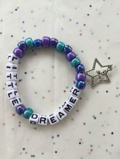 Little Dreamer Festival Rave Kandi Bracelet by KandiiWear on Etsy