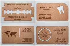 Business Card | Wooden Business Card / Unique Design / Set of 100 / by WoodPower