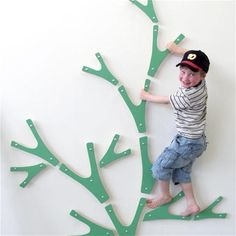 Indoor Climbing Tree- what a great way to keep the kids active on rainy days!