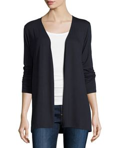 Soft Touch Open Cardigan by Majestic Paris for Neiman Marcus at Neiman Marcus.