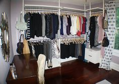...that my future husband should turn an entire room into my closet. this is beyond amazing! #organization #closet