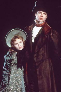 Brad Pitt en Entrevista con el Vampiro, junto a  una niña de 11 años que le robaría un beso en el film: Kirsten Dunst.