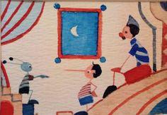 Pinocchio Lucignolo e il Grillo - Acquerelli originali di Massimo Pantani, Pantani Arte San Gimignano (Siena)