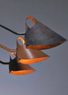 Méchant Studio Blog: powerful leather | Find the best lighting inspirations for your home design ideas here: http://goo.gl/Zbca6Z #fixtures