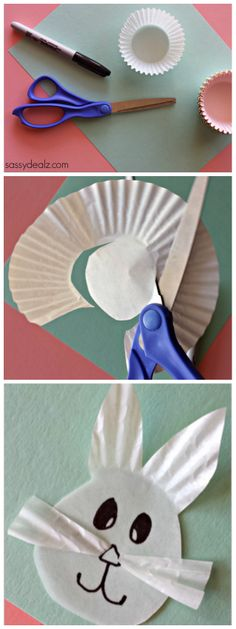 Easter Bunny Craft for Kids made of Cupcake liners! #Easter art project   http://www.sassydealz.com/2014/03/cupcake-liner-bunny-craft-kids.html