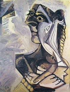 Pablo Picasso. Woman sitting. 1971 year