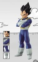 Dragon Ball Z Super Structure Collection vegeta Black hair Figure
