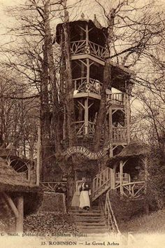 The Forgotten Treehouse Bars of Bygone Summers in Paris ... There was once a place that drew crowds of Parisians away from their grand boulevards and sidewalk cafés to rediscover their inner child, wine & dine in chestnut tree houses and celebrate summer like Robinson Crusoe.