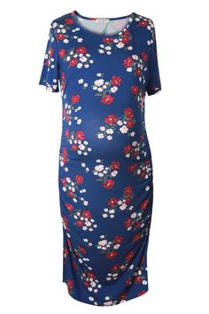 973c01187ef7b Maternity Outfits - sensible maternity dresses : Smallshow Womens Ruched Maternity  Dress Short Sleeve Dress Medium Blue * You can find more information by ...