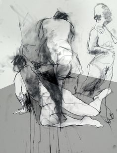 Life Drawing by David Hewitt Artist - Charcoal & Photoshop #Art #Drawing…