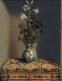 Hans Memling, Vase of flowers
