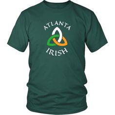 """Saint Patrick's Day - """" Atlanta Irish Parade """" - custom made  funny t-shirts"""
