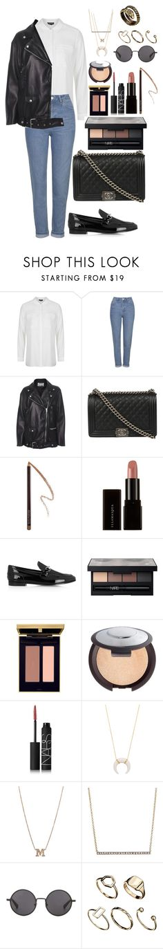 """""""Untitled #809"""" by imadeintheuk ❤ liked on Polyvore featuring Topshop, Acne Studios, Chanel, Laura Mercier, Gucci, NARS Cosmetics, Yves Saint Laurent, Becca, Jacquie Aiche and ZoÃ« Chicco"""