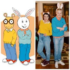Arthur and Buster | 27 Simple Costumes You Can Totally Make The Day Before Halloween