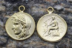 Buy Now Ancient Greek Coins Matt Gold Coins coin pendant... Coin Pendant, Gold Coins, Ancient Greek, Pocket Watch, Buy Now, Pendants, Personalized Items, Stuff To Buy, Accessories