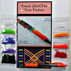 BP-PEN-006  2015-38  Fun Loving  Peyote Stitch Pen by TrinityDJ