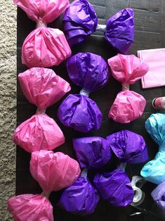 All colors! Can make smaller with or without berets. Tissue paper with glitter in center. Jojo Siwa Birthday, Barbie Birthday, Barbie Party, Jojo Siwa Bows, Jojo Bows, 5th Birthday Party Ideas, Birthday Fun, Bday Girl, Party Time